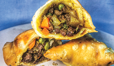 Samosas are a great way to make your grouse meat stretch further.