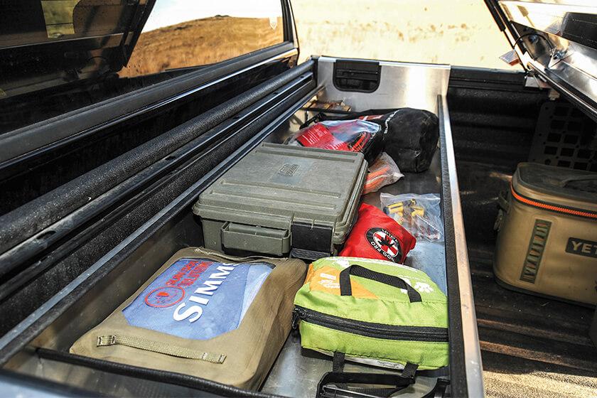 truck bed bin storage