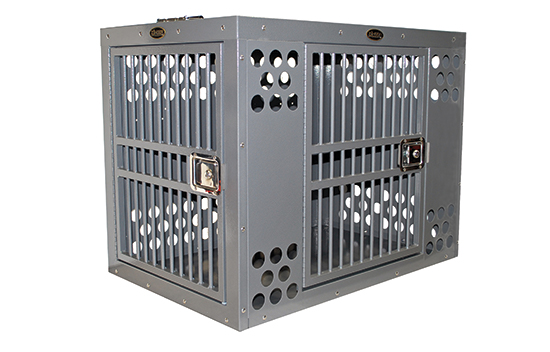 Zinger Winger Double Door Aluminum Dog Crate