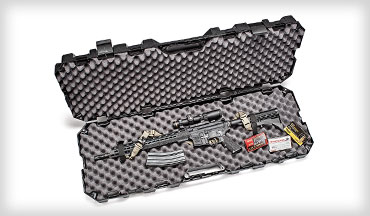 Designed to fit and protect all sorts of rifles and shotguns up to 42 inches long, the MTM Tactical Rifle Case features the durable molded construction we've come to expect from the company. It comes with four rugged snap clasps — one on each end and two on the side — and locking points.