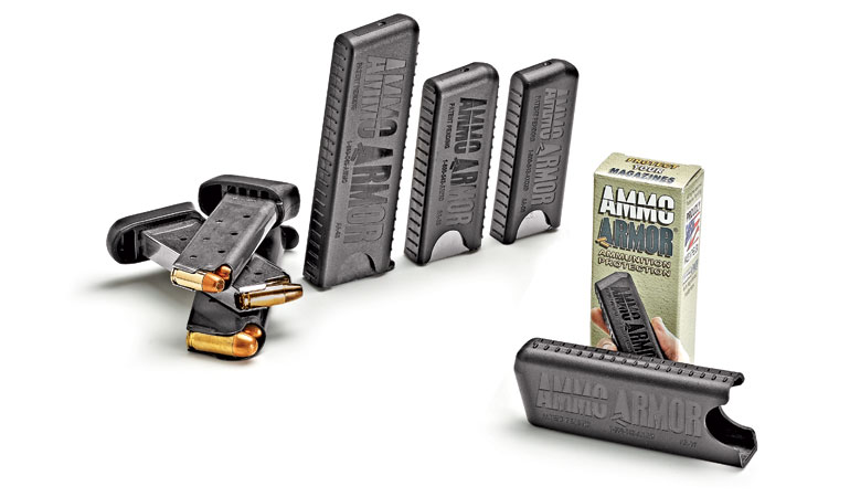 Ammo Armor is a cover for pistol magazines that is made of polyethylene, a high-end plastic that feels high quality.