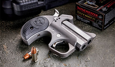 There are pocket autos as small and light, but the double derringer still appeals to some concealed carriers. The Bond Arms Roughneck carries on the tradition, but in a form that's actually safe to carry on a daily basis.