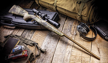 At 4.6 pounds, the T-­Bolt weighs less that what it weighed on introduction in 1965, thanks to the slender and weatherproof composite stock. Combine the stock with the fast-­cycling action, and the T-­Bolt promises to remain a favorite in the rimfire world. T-­Bolt models can vary from year to year, so if the Speed appeals to you, act sooner rather than later.
