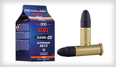 CCI Ammunition announced new Clean-22 Suppressor .22 LR rounds, packaged in CCI's new easy-to-pour, bulk-pack cartons. Shipments of this new product have begun to arrive at dealers.