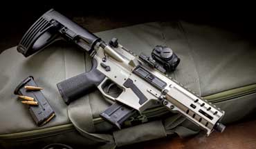 The CMMG Banshee Mk57 300 Series can be chambered in any of 10 cartridges ranging from .22LR to .458 SOCOM.