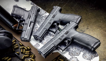The CZ P-­10C was voted as the G&A 2017 Handgun of the Year and after much success in the firearms market, the lineup has been expanded with the optics-ready CZ P-­10S and the full-­size CZ P-­10F.