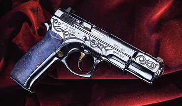 CZ is offering 1,000 presentation- grade CZ 75 B pistols to commemorate the model's 40th anniversary in 2015.
