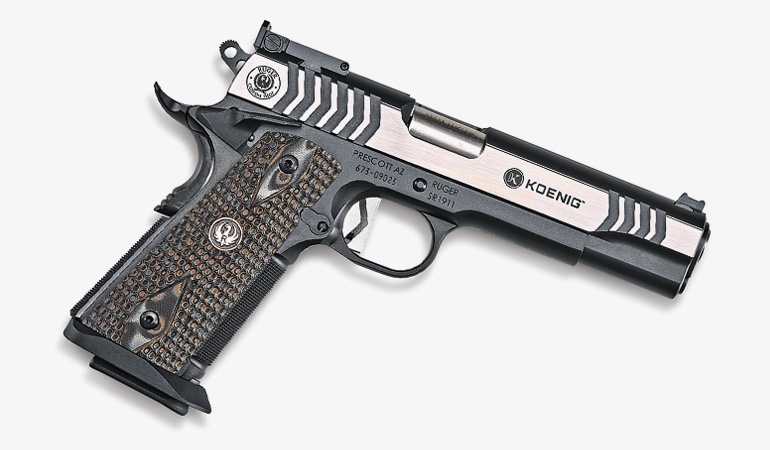 Ruger launches its custom shop and unveils an SR1911 designed by world champion shooter Doug Koenig.