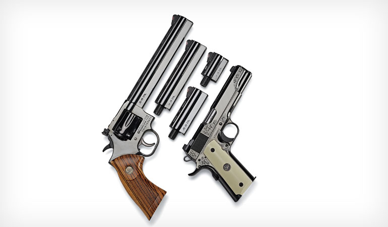 Dan Wesson commemorates its 50th Anniversary with a limited number of engraved, blued-steel Model 1911s.