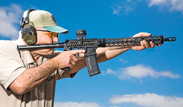 This custom competition AR-15 only weighs 3 pounds, 13 ounces, but it performs like a champion.