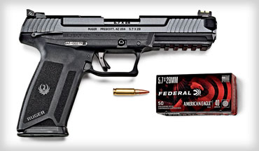 Both brands said they were unaware the other was working on new products for the 5.7x28mm cartridge. It was just happenstance then that the Ruger 57 and Federal's expansion of its commercial line of 5.7x28 ammunition were introduced at SHOT Show 2020. Both are now trending.