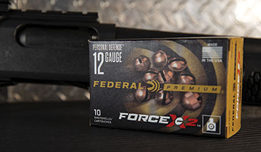 New Personal Defense ammunition from Federal turns shotguns into the ultimate defensive platform. Force X2 copper-plated 00 FX2 buckshot pellets are specially engineered to split into two equal-size pieces on impact.