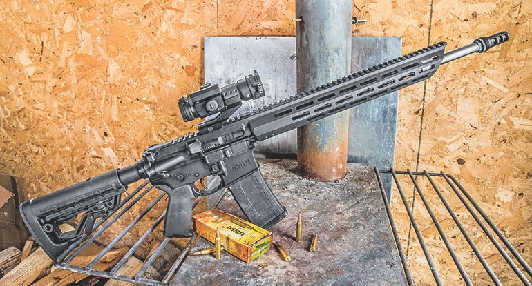 Mossberg MMR Pro with a Vortex StrikeFire II red dot shooting Fusion MSR .223 ammo