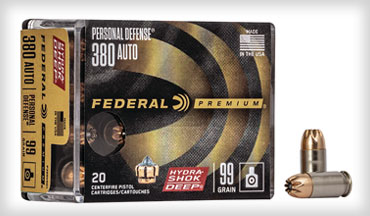Federal Premium has introduced the Hydra-Shok Deep .380 Auto, the first expanding .380 Auto load to consistently penetrate beyond the FBI-recommended 12-inch minimum in bare gel and through heavy clothing.  Shipments of this product have begun to arrive at dealers.