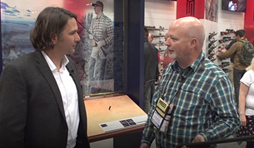 OSG's Lynn Burkhead talks with Jared Hinton of Savage Arms about the updated Fox A Grade shotgun at the 2019 NRA Annual Meeting.