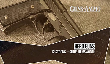 "Guns & Ammo goes on location at Independent Studio Services (ISS) to examine the guns used by actor Chris Hemsworth as ""Captain Mitch Nelson"" ODA 595's commander, in the movie ""12 Strong"" (2018). The film was based on Doug Stanton's non-fiction book ""Horse Soldiers,"" which told the story of U.S. Army Special Forces sent to Afghanistan following the terror attacks on September 11, 2001."