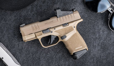 Springfield Armory announced its Hellcat will now be available in Desert Flat Dark Earth (FDE). It is being offered in both standard and OSP versions.