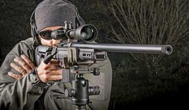 The Howa 1500 action puts the KRG Bravo on the map for long-range precision.