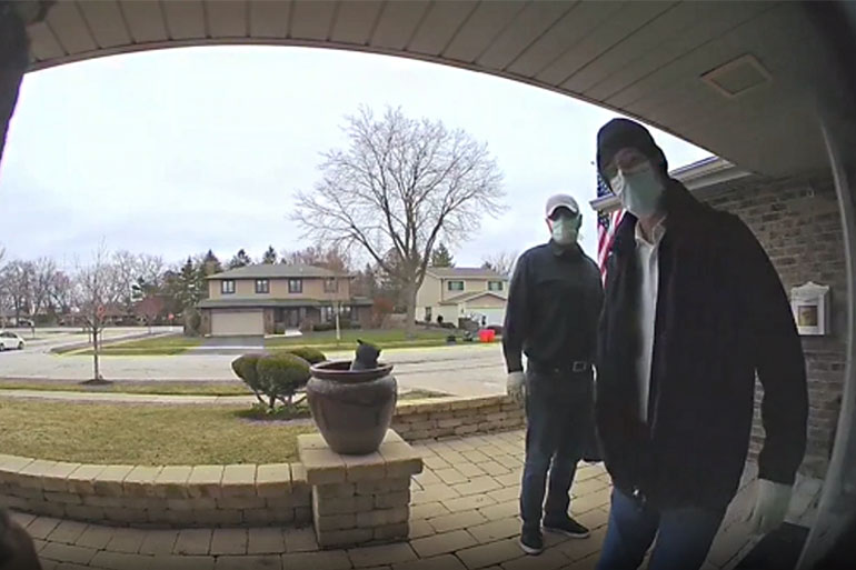 Doorbell Video Captures IL Home Invasion