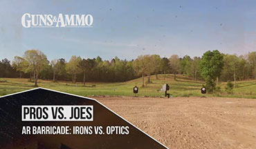 How much of an edge do optics give shooters? In this segment of Pros vs. Joes, Guns & Ammo TV puts Coordinating Producer Jeff Murray against Professional Shooter Chris Cerino.