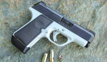 The striker-fired, Kimber EVO SP Two-Tone is a single-stack 9mm concealed-carry pistol with the soul of a 1911.