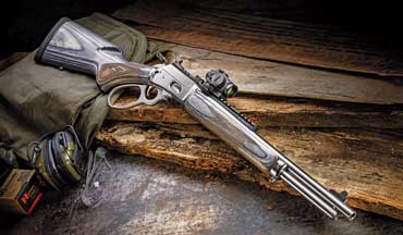 The Marlin 1894 SBL comes chambered in .44 Magnum and the carrier allows the owner to shoot a wide range of bullet weights and lengths without worrying about feeding issues.