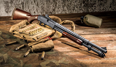 The Mossberg 590A1 Retrograde pump-action shotgun pays homage to the original 590A1, a staple of military and police for decades.