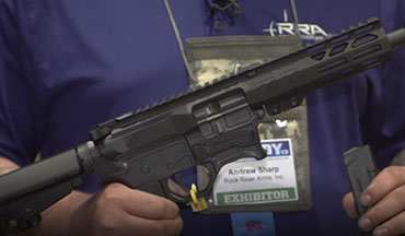 Andrew Sharp of Rock River Arms talks about the new 9 mm, 7-inch AR pistol.