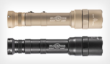 Surefire introduces the Scoutlight Pro and the XR2 pistol lights plus the SOCOM 50 suppressor.