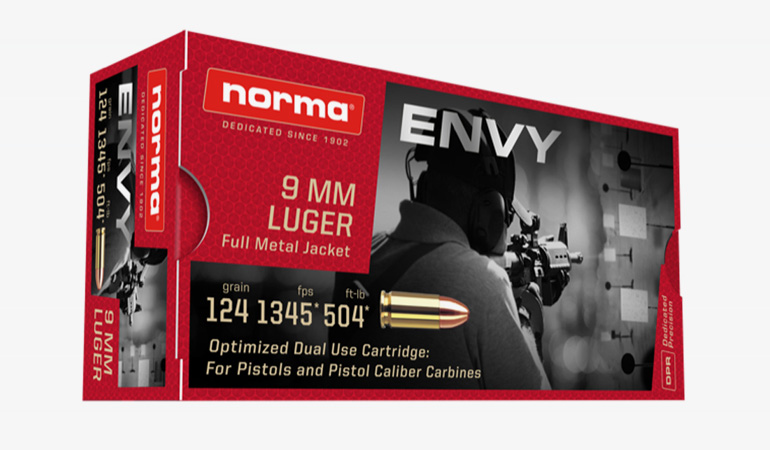 Norma ENVY - Dedicated 9mm Ammunition for Pistol Caliber Carbines