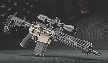 The new Revolution pistol remains in .308, but is the size of a .223 AR.