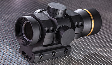The Leupold RDS is made of 6061 T6 aluminum and has a beefy 34mm main tube. It comes mounted in Leupold's own AR mount, which has a substantially thick base. The underside of the base has three ribs machined into it to mate like a puzzle to a Picatinny rail. This thing is designed to be knocked around and stay in place.