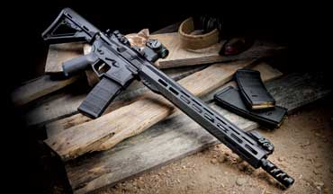 The RA-­315C is well balanced, light and sleek, and weighs just shy of 7 pounds. What really makes these RA rifles a stand out is the precision fitment between the machined billet aluminum upper and lower receivers and the slender handguard that presents plenty of M-­Lok attachment points.
