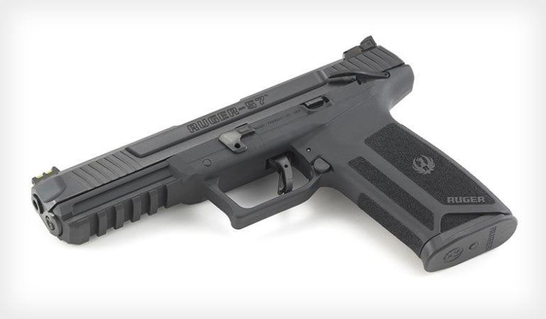 <p>Sturm, Ruger & Company, Inc. has introduced the Ruger-57 pistol, a full-featured handgun wrapped around a standard capacity, 20-round steel magazine, chambered in the high performance and low-recoiling 5.7x28mm caliber.</p>