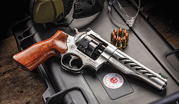 The Ruger Super GP100 9mm revolver is a purpose-built revolver suitable for competition use. It's a race gun. It has a great trigger, high-visibility sights and fast loading capability. It would be an excellent choice for practical shooting disciplines.