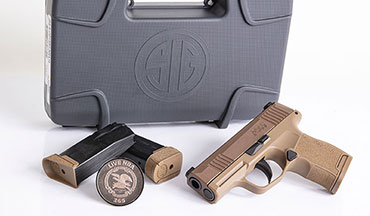SIG SAUER and Lipsey's announce the release of the special edition NRA P365 micro-compact pistol.