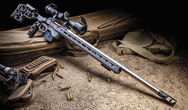 The Savage Arms 110 Elite Precision is an excellent all-around rifle for most shooting activities that don't require light weight. It can be made to fit just about anyone, with a chassis that allows for accurate, rapid and effective positional shooting. And while the 110 Elite Precision is not inexpensive, it still costs less than most custom rifles.