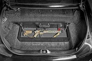 The SnapSafe Trunk Safe was designed to offer storage for valuable belongings (not just guns), keeping them out of sight while offering easy access.