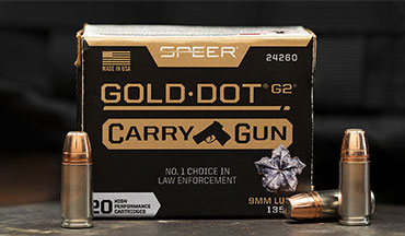 Speer has taken its Gold Dot G2 hollow-point bullet and modified it to create a new product line designed for compact personal defense handguns called Gold Dot Carry Gun.