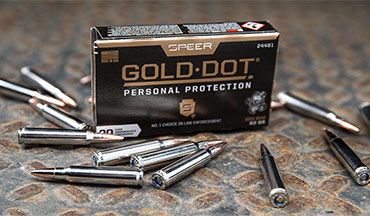 Speer is now offering the performance of its Gold Dot Handgun ammunition for self-defense rifle applications with new Speer Gold Dot Personal Protection Rifle ammunition.