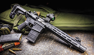 While the Saint Victor .308 comes with a prodigious muzzle blast, when concealed it replicates the ballistics of the AK-pattern rifle in a more compact and legally protected form.