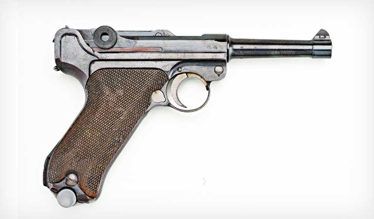 Straw Finish Luger Handguns