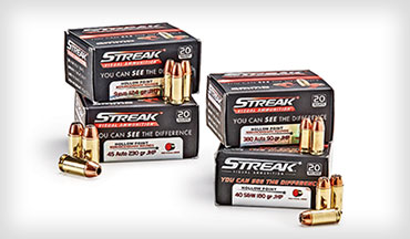 Streak Visual Ammunition lets you see your bullet in flight. Not only is it fun, this ammunition can be beneficial from a training standpoint.