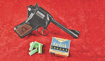 The Dardick revolver is one of the more bizarre firearms to come out of the mid-­20th century. Despite its unusual and ungainly appearance, it's not that uncomfortable in the hand.