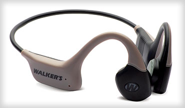 New from Walker's is the Raptor, a new approach to hearing enhancement & protection that utilizes bone-conduction technology to amplify ambient sounds by transmitting sound waves through bones in the head to the inner ear rather than through the ear canals.