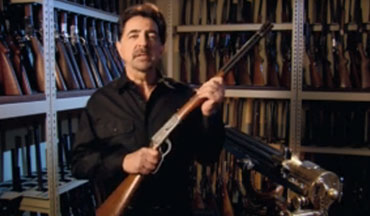 Joe Mantegna talks about the origins of the 94 Winchester rifle.