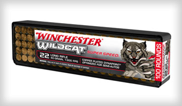 Winchester Ammunition introduced its new Wildcat Super Speed ammo in 22 Long Rifle.