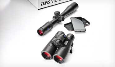 Zeiss' medium-­priced optics, the Zeiss Conquest V4 riflescope and Victory Rangefinder, benefit from bluetooth and rangefinding technology.