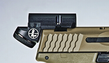 As pistol-mounted optics trend up in size, Leupold's DeltaPoint Micro takes an innovative approach.