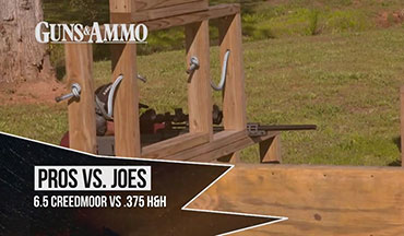 For this shoot, Pro Tom Beckstrand, former U.S. Army Special Operations officer and sniper team leader, faces off against Guns & Ammo TV cameraman Ben LaLonde in a challenge that highlights the differences between the 6.5 Creedmoor vs. .375 H&H.